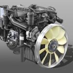 Động cơ DOOSAN DL06K Công suất 280ps 2.500 Momen xoắn 981N.m 1.400rpm Dung tích Xilanh 5.890cc