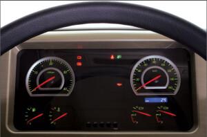 Bảng hiển thị thông tin + lộ trình của xe