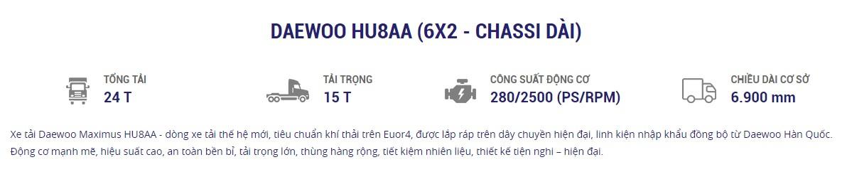 Thong so HU8AA 6x2