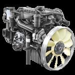 Động cơ DOOSAN DL06K Công suất 280PS-2.500 rpm Momen xoắn 981N.m-1.400rpm Dung tích xylanh 5.890cc