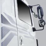 Gương chiếu hậu, gương chiếu đầu xe và cửa có gắn tem phản quang